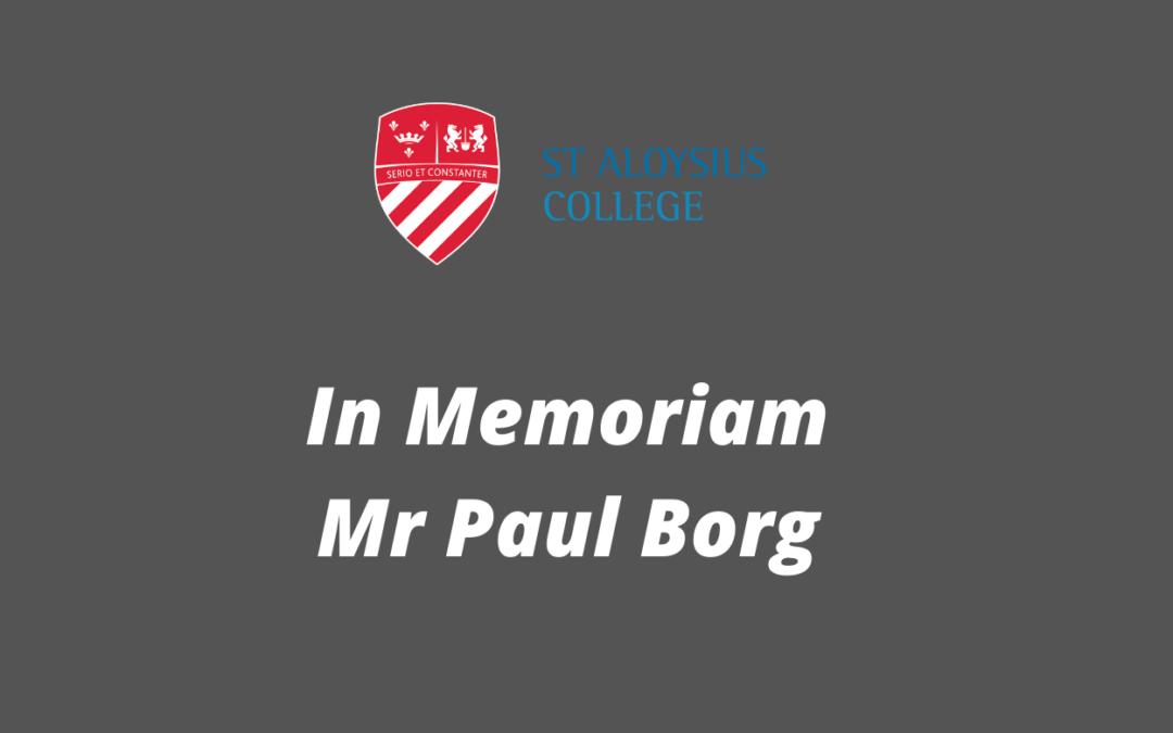 In Memoriam – Mr Paul Borg