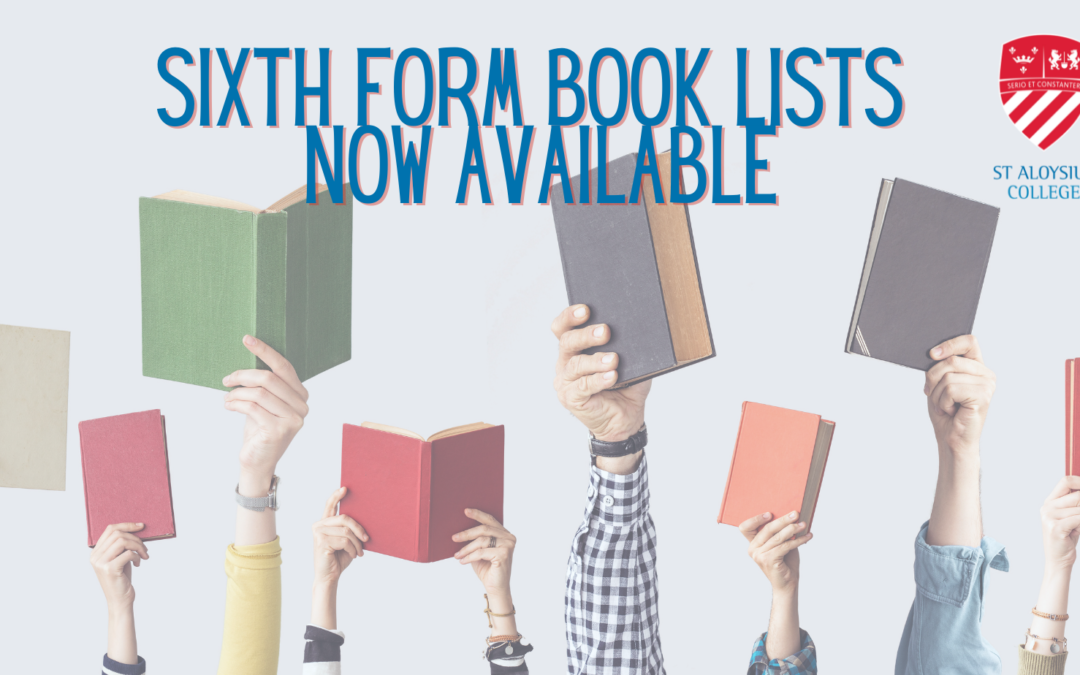 UPDATE: Sixth Form book lists now available!